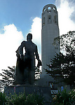 Columbus statue at Coit Tower, San Francisco. Bob & Lou's trip to California Nov. 2015. (Bob Gathany Photographer)