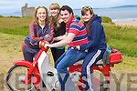 HONDA: Going for a drive on a Honda 50 at the Blast from the Past Festival in Ballybunion on Suinday L-r: Deirdre and Elaine McCarthy (Listellton), Roy O' Dee, (Beaufort) and Michelle Lynch (listellton).............................................. ....