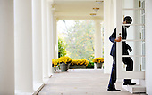 Washington, DC - November 3, 2009 -- United States President Barack Obama walks from the Oval Office to the Cabinet Room to participate in the U.S.-European Union Summit at the White House, Tuesday, November 3, 2009 in Washington, DC..Credit: Olivier Douliery / Pool via CNP