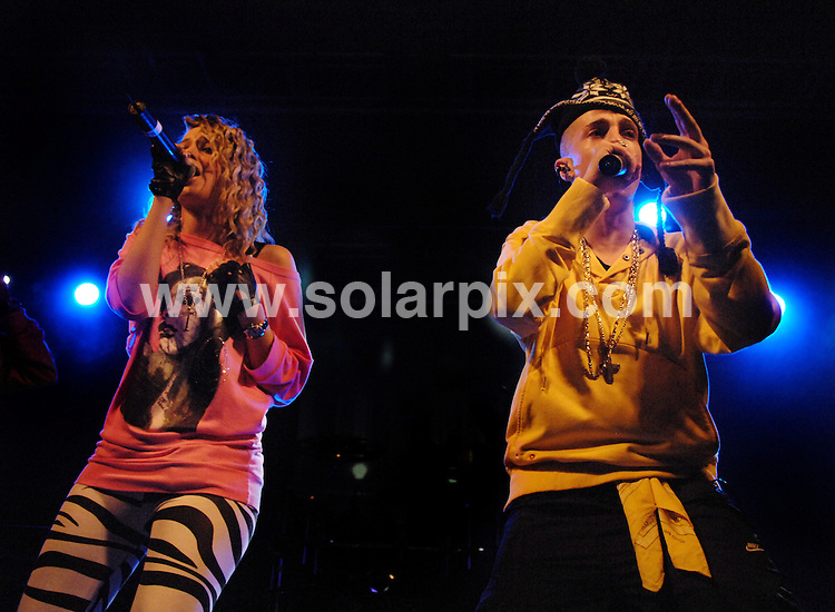 **ALL ROUND PICTURES FROM SOLARPIX.COM**.**WORLDWIDE SYNDICATION RIGHTS**.N-Dubz perform in concert at the O2 Liverpool Academy, Liverpool, UK. 6 April 2009..This pic: N-Dubz..JOB REF: 8776 SGD     DATE: 06_04_2009.**MUST CREDIT SOLARPIX.COM OR DOUBLE FEE WILL BE CHARGED**.***ONLINE USAGE FEE GBP 50.00 PER PICTURE - NOTIFICATION OF USAGE TO PHOTO @ SOLARPIX.COM**.**CALL SOLARPIX : +34 952 811 768 or LOW RATE FROM UK 0844 617 7637**