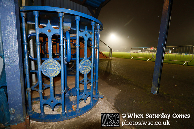 Coventry United 3 Highgate United 5, 17/10/2017. Butts Park Arena, Birmingham Senior Cup. Turnstiles at the Butts Park Arena. They are believed to have been used by the Coventry Rugby club since the 19th Century.  Photo by Paul Thompson.