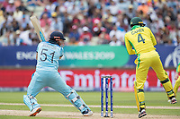 Jonny Bairstow (England) cuts backward of point during Australia vs England, ICC World Cup Semi-Final Cricket at Edgbaston Stadium on 11th July 2019