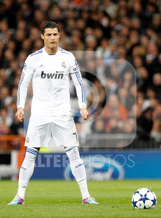 Madrid (16/03/2011).- Estadio Santiago Bernabeu..UEFA Champion League..Real Madrid 3 - Olympique Lyonnais 0.Cristiano Ronaldo...©Alex Cid-Fuentes/ALFAQUI...