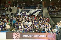 Real Madrid´s fans during 2014-15 Euroleague Basketball match between Real Madrid and Anadolu Efes at Palacio de los Deportes stadium in Madrid, Spain. December 18, 2014. (ALTERPHOTOS/Luis Fernandez) /NortePhoto /NortePhoto.com