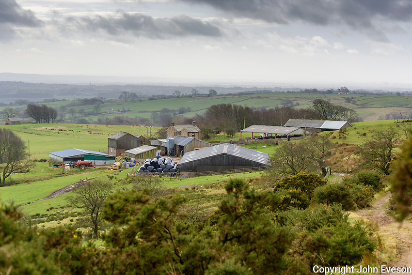 View of Saddle End Farm, Chipping, Lancashire.