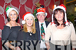 ....HATS: Looking good in their Christmas hat at the Kerry Deaf Resource Centre Christmas party in Ballyroe Heights Hotel, Trealee on Friday nighty, l-r: Noreen Cronin (Castleisland),Sandra Kearney (Tralee), Trevor Jones (Lyercompane) and Therese Gallant (Castleisland)...............................