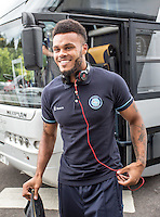 Aaron Holloway of Wycombe Wanderers arrives prior to the Sky Bet League 2 match between Crawley Town and Wycombe Wanderers at Checkatrade.com Stadium, Crawley, England on 29 August 2015. Photo by Liam McAvoy.
