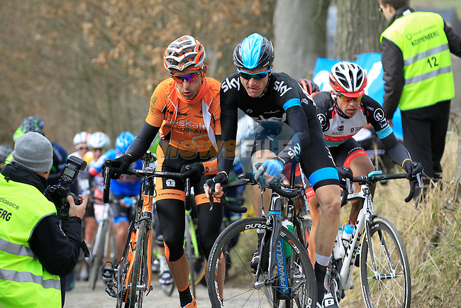 Riders struggle up the 23%  Koppenberg climb during the 2013 Tour of Flanders, Belgium, Sunday 31st  March 2013 (Photo by Eoin Clarke 2013)