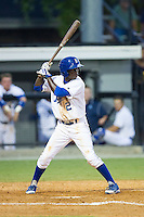 D.J. Burt (2) of the Burlington Royals at bat against the Princeton Rays at Burlington Athletic Park on July 11, 2014 in Burlington, North Carolina.  The Rays defeated the Royals 5-3.  (Brian Westerholt/Four Seam Images)