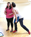 Katie Ladner and Evan Todd performing at the Open Press Rehearsal for 'Heathers The Musical' on February 19, 2014 at The Snapple Theatre Center in New York City.