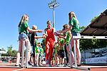 29.06.2019, Stadion Ratingen, Ratingen, DLV, Mehrkampfmeeting im Bild Anna Maiwald ( TSV Bayer04 Leverkusen ) beim Einlauf.<br /> <br /> <br />   <br /> <br /> Foto © nordphoto / Freund