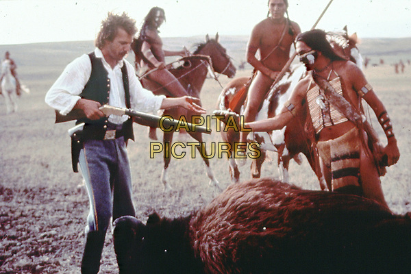 Dances with Wolves (1990) <br /> Kevin Costner &amp; Graham Greene<br /> *Filmstill - Editorial Use Only*<br /> CAP/KFS<br /> Image supplied by Capital Pictures