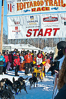 Iditarod musher Mitch Seavey leaves the gate at the Restart of Iditarod 2012, Willow, Alaska, March 4, 2012