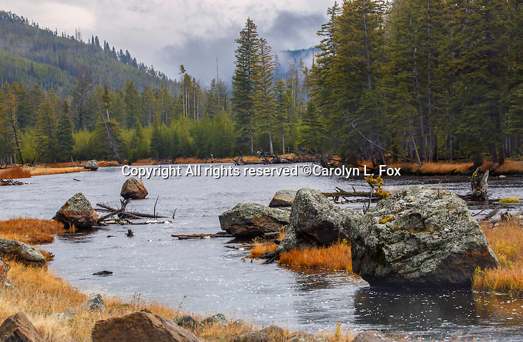 Landscapes are beautiful in Yellowstone National Park.