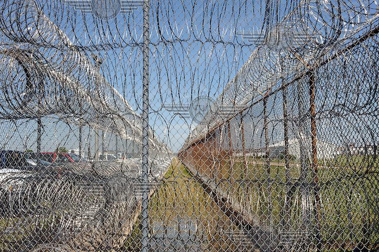 Razor wire at Angola Prison..