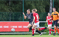 OHL's Sara Yuceil (13) (L) and Standard's Charlotte Cranshoff (18) (R) battle for the ball during a female soccer game between Standard Femina de Liege and Oud Heverlee Leuven on the second matchday of the 2020 - 2021 season of Belgian Scooore Women s SuperLeague , saturday 5 th of September 2020  in Angleur , Belgium . PHOTO SPORTPIX.BE | SPP | SEVIL OKTEM