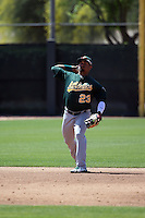 Franklin Barreto - Oakland Athletics 2016 spring training (Bill Mitchell)