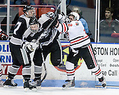 Eric Baier (Providence - 7), Tim Schaller (Providence - 11), Steve Morra (NU - 12) - The Northeastern University Huskies defeated the Providence College Friars 3-1 (EN) on Tuesday, January 19, 2010, at Matthews Arena in Boston, Massachusetts.
