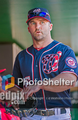 23 May 2015: Washington Nationals infielder Dan Uggla walks the dugout prior to a game against the Philadelphia Phillies at Nationals Park in Washington, DC. The Phillies defeated the Nationals 8-1 in the second game of their 3-game weekend series. Mandatory Credit: Ed Wolfstein Photo *** RAW (NEF) Image File Available ***