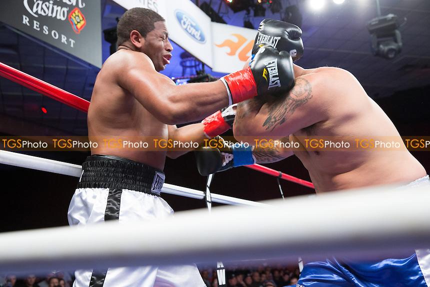 Avery Gibson vs John Makani Sarellano in a Heavyweight boxing contest - ESPN Friday Night Fights at the Chumash Casino Resort & Spa in Santa Ynez, California - 05/04/13 - Dwight McCann/TGSPHOTO - Self billing applies where appropriate - 0845 094 6026 - contact@tgsphoto.co.uk - NO UNPAID USE.