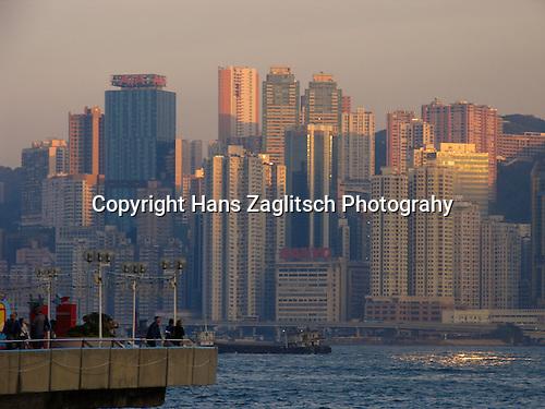 Modern skyline of Hongkong seen from Kowloon.