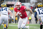 Wisconsin Badgers linebacker Garrel Dooley (5) during an NCAA College Big Ten Conference football game against the Michigan Wolverines Saturday, November 18, 2017, in Madison, Wis. The Badgers won 24-10. (Photo by David Stluka)