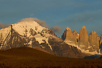 Mountain range, Torres del Paine, Torres del Paine National Park, Patagonia, Chile