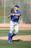 Austin Kirk of the Chicago Cubs participates in spring training workouts at the Cubs complex on March 6, 2011  in Mesa, Arizona. .Photo by:  Bill Mitchell/Four Seam Images.