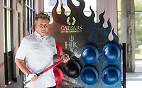 LAS VEGAS, NV - August 5, 2017: ***HOUSE COVERAGE*** ***IMAGES APPROVED FOR RELEASE*** Gordon Ramsay pictured as Chef Gordon Ramsay visits the construction site for Hell's Kitchen at Caesars Palace in Las Vegas, NV on August 5, 2017. Credit: Erik Kabik Photography/ MediaPunch