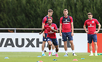 Raheem Sterling (Manchester City) of England with teammates during an open England football team training session at Stade Omnisport, Croissy sur Seine, France  on 12 June 2017 ahead of England's friendly International game against France on 13 June 2017. Photo by David Horn/PRiME Media Images.