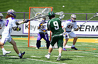No. 5 ranked Albany defeats Binghamton 20-8 in the finals of the America East Tournament on May 06, 2017 at Casey Stadium in Albany, New York.  (Bob Mayberger/Eclipse Sportswire)