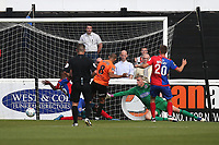 Curtis Weston of Chesterfield scores the first goal for his team during Dagenham & Redbridge vs Chesterfield, Vanarama National League Football at the Chigwell Construction Stadium on 15th September 2018