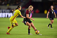 Carson, CA - November 13, 2016: The U.S. Women's National team defeat Romania 5-0 in an international friendly game at StubHub Center.