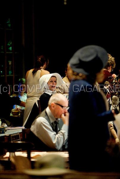 Actor Bart Cafmeyer starring in Zaterdag, Zondag, Maandag, the first play of the newly created theatre company Publiekstoneel in the Stadsschouwburg of Antwerp (Belgium, 13/02/2009)