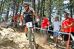27.07.2013 La Massana, Andorra. UCI Mountain Bike World Cup. Picture show Manuel Fumic (GER) in action during Cross-Country Final at Vallnord