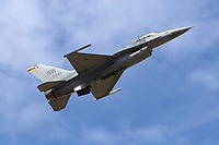 """Maj John """"RAIN"""" Waters pilots the Lockheed Martin F-16 Fighting Falcon, AF00221, as part of the F-16 Viper Demonstration Team out of Shaw AFB, SC."""