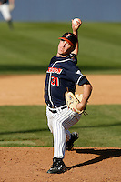 Adam Jorgenson of the Cal State Fullerton Titans during a game against the Arizona Wildcats at Goodwin Field on February 18, 2007 in Fullerton, California. (Larry Goren/Four Seam Images)