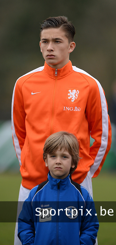 20160324 - Buderich , GERMANY : Dutch Jordy Wehrmann pictured during the soccer match between the under 17 teams of The Netherlands and Bulgaria , on the first matchday in group 4 of the UEFA Under17 Elite rounds in Buderich , Germany. Thursday 24th March 2016 . PHOTO DAVID CATRY