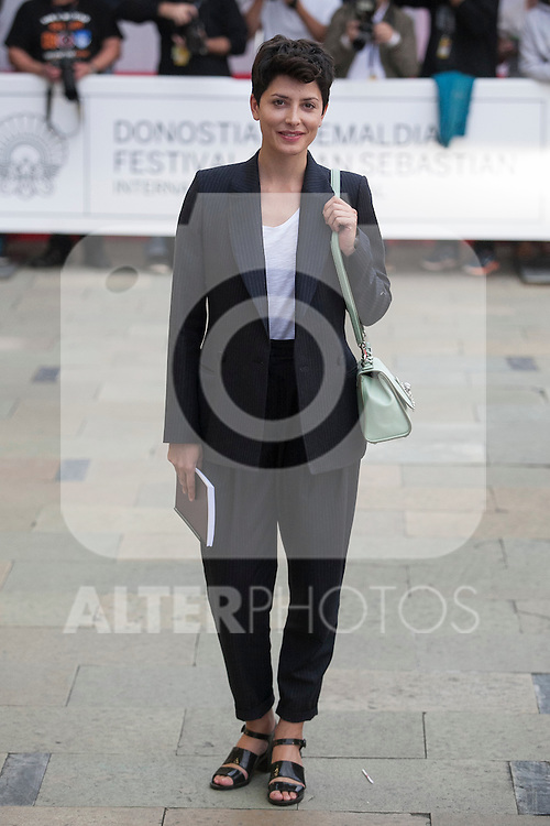 Actress Barbara Lennie arrives to Maria Cristina hotel during 63rd Donostia Zinemaldia (San Sebastian International Film Festival) in San Sebastian, Spain. September 21, 2015. (ALTERPHOTOS/Victor Blanco)
