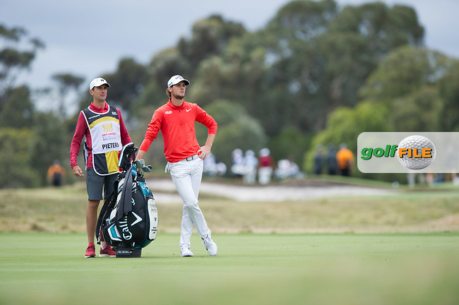 Thomas Detry (BEL) during the final round of the World Cup of golf,  The Metropolitan Golf Club, The Metropolitan Golf Club, Victoria, Australia. 25/11/2018<br /> Picture: Golffile | Anthony Powter<br /> <br /> <br /> All photo usage must carry mandatory copyright credit (© Golffile | Anthony Powter)