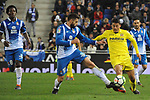 League Santander 2017-2018 - Game: 24.<br /> RCD Espanyol vs Villarreal CF: 1-1.<br /> David Lopez vs Pablo Fornals.