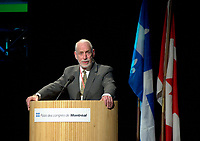 March 19 2003, Montreal, Quebec, Canada<br /> <br /> David Anderson,Canada's  Environment Minister, speak at the Opening Plenary Session  of Americana ;  a 3 daysconference and  trade show on environment and waste management organized by Reseau Environnement, March 19, 2003 in Montreal, Canada.<br /> <br /> Photo :   Pierre Roussel / AGENCE QUEBEC PRESSE