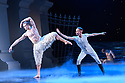 """London, UK. 07.12.2018. Matthew Bourne's """"Swan Lake"""" returns to Sadler's Wells Theatre, for a run until Sunday 27th January 2019. Choreographed by Matthew Bourne, with lighting design by Paule Constable and costume design by Lez Brotherston. Dancer are: Matthew Ball (The Swan), Liam Mower (The Prince), Nicole Kabera (The Queen), Katrina Lyndon (The Girlfriend), Glenn Graham (The Private Secretary), Megan Cameron (The Hungarian Princess), Freya Field (The German Princess), Zanna Cornelis (The Romanian Princess), Nicole Alphonse, Jonathan Luke Baker, Tom Broderick, Kayla Collymore, Keenan Flethcer, Bryony Harrison, Parsifal James Hurst, Jack Mitchell, Harry Ondak-Wright, Ashley-Jordan Packer, Jack William Parry, Stan West, Carrie Willis. Picture shows: Matthew Ball (The Swan), Liam Mower (The Prince). Photograph © Jane Hobson."""