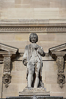 Jean-Jacques Rousseau, 1712 - 1778, philosopher, literary figure, and composer of the Enlightenment, Louvre Museum, Paris, France Picture by Manuel Cohen