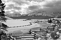 Snake Rail Fence, Sawtooth Range, Salmon River, Stanley, Idaho