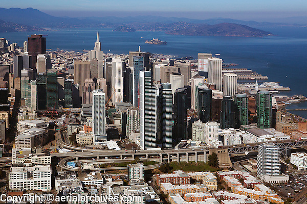 aerial photograph South of Market Street SoMa and Financial District San Francisco, California