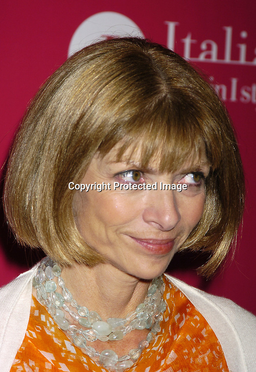 Anna Wintour ..at the launch of  Wild About Cashmere Party at Saks Fifth Avenue benefitting The Central Park Conservancy  on September 20, 2005...Photo by Robin Platzer, Twin Images