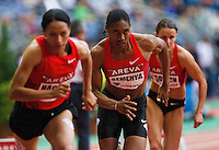 08 JUL 2011 - PARIS, FRA - Caster Semenya (centre) powers from the start of the women's 800m race at the Meeting Areva round of the Samsung Diamond League (PHOTO (C) NIGEL FARROW)