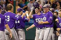 TCU's Witte, Jantzen 2775.jpg against Florida State at the College World Series on June 23rd, 2010 at Rosenblatt Stadium in Omaha, Nebraska.  (Photo by Andrew Woolley / Four Seam Images)