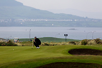 Peter O'Keeffe (Douglas) on the 3rd green during Round 3 of The West of Ireland Open Championship in Co. Sligo Golf Club, Rosses Point, Sligo on Saturday 6th April 2019.<br /> Picture:  Thos Caffrey / www.golffile.ie